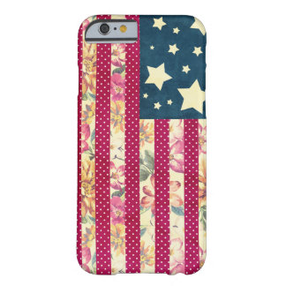 Shabby Chic   American Flag Quilt Barely There iPhone 6 Case