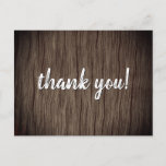 """[ Thumbnail: Shabby Chic and Rustic """"Thank You!"""" Postcard ]"""