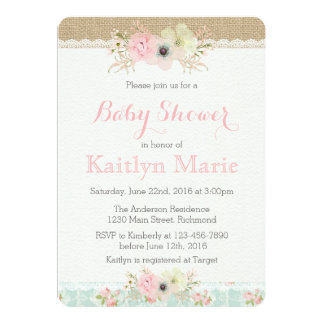 Shabby Chic Baby Shower Invitation