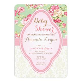 Shabby Chic Baby Shower Tea Party Invitations
