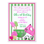 Shabby Chic Baking Birthday Invitations