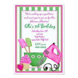 Shabby Chic Baking Birthday Invitations