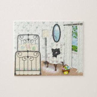 Shabby Chic Bedroom Scene Puzzle