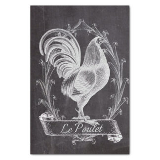 shabby chic blackboard french country rooster tissue paper