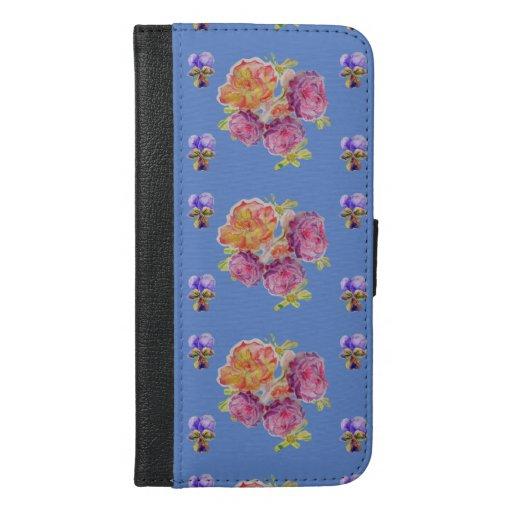 Shabby Chic Blue Rose Floral Roses I Phone Case