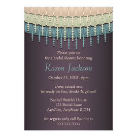 Shabby Chic Bohemian Bridal Shower Invitations