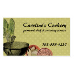 shabby chic bowl whisk herbs spices chef biz cards business card
