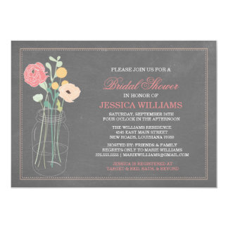 Shabby Chic Bridal Shower | Coral Personalized Invites