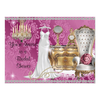Shabby Chic BRIDAL SHOWER INVITATION DAMASK Wallpa