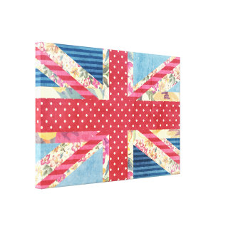 Shabby Chic | British Flag Quilt Canvas Print