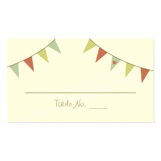 Shabby Chic Bunting Wedding Placecards Business Card