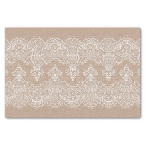 Shabby Chic Burlap and Lace Tissue Paper