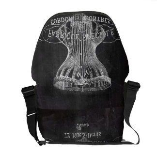 shabby chic chalkboard art girly vintage corset courier bag