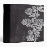 shabby chic chalkboard floral french country 3 ring binder