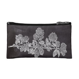 shabby chic chalkboard floral french country cosmetics bags