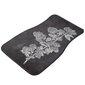 shabby chic chalkboard floral french country floor mat