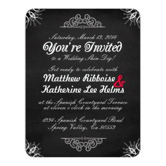 Shabby-Chic Chalkboard Invitation