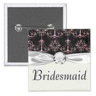 shabby chic chandelier mod pin black damask