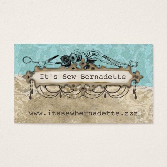 Shabby chic chandelier sewing scissors biz cards