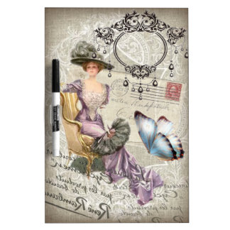 shabby chic chandelier Vintage victorian lady Dry-Erase Board