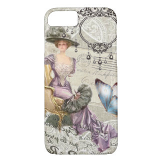 shabby chic chandelier Vintage victorian lady iPhone 8/7 Case