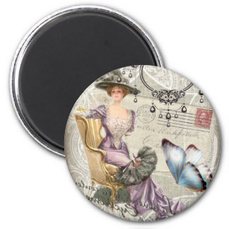 shabby chic chandelier Vintage victorian lady Magnet