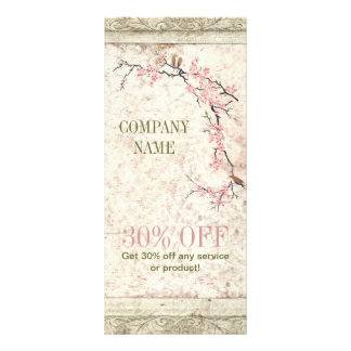 shabby chic cherry Blossom floral Country vintage Rack Card