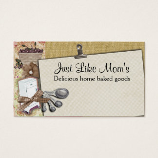 Shabby chic cherry icebox cooking baking biz cards