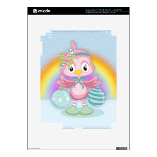 Shabby Chic, Christmas Chick In The Snow Skin For iPad 3