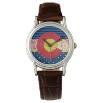 Shabby Chic | Colorado State Flag Wristwatch