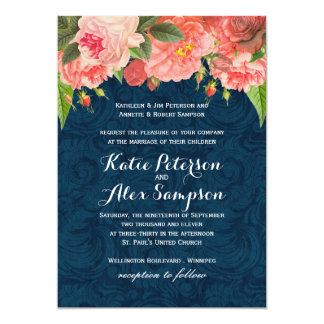Coral And Navy Wedding Invitations could be nice ideas for your invitation template