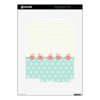 shabby chic,country,coral,green,cute,pink,girly, decals for iPad 2
