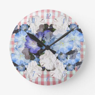 Shabby Chic Country Farmhouse Floral Clock