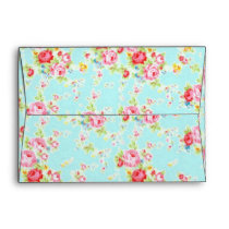 Shabby Chic Cowgirl Floral Roses Envelope