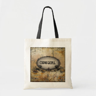 Shabby Chic Cowgirl Tote Bag