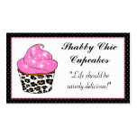 Shabby Chic Cupcake Business Cards
