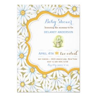 Shabby Chic Daisy Floral Baby Shower Invitation