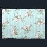 "Shabby chic decor place mats kitchen home gift<br><div class=""desc"">Shabby chic decor place mats kitchen home gift,  pink and mint with roses.</div>"