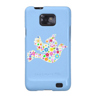 Shabby Chic Dove of Flowers Galaxy S2 Cover