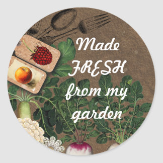 Shabby chic edible garden food gift tag stickers