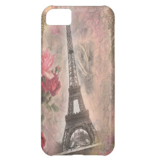 Shabby Chic Eiffel Tower Pink Roses Collage iPhone 5C Cover