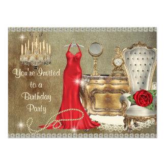 SHABBY CHIC FABULOUS BIRTHDAY PARTY INVITATION