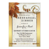 Shabby Chic Fall Rehearsal Dinner Invitation