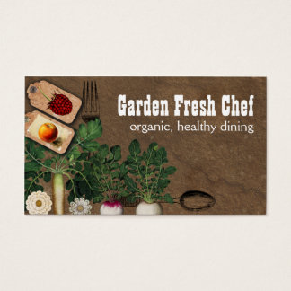 Shabby chic farmers market organic chef biz cards