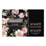shabby chic fashion vintage black floral personalized flyer