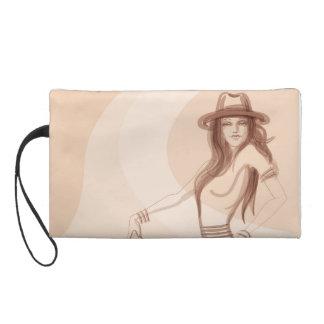 Shabby chic fashionista wristlet purse