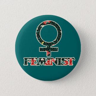 Shabby Chic Feminist Button