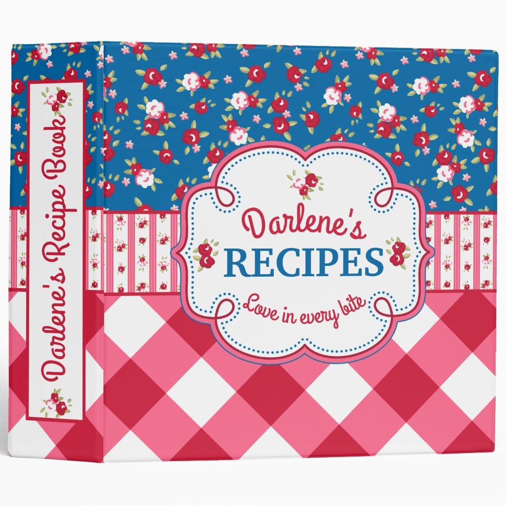 Shabby Chic Recipe Book Binder