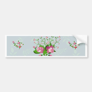shabby chic, floral decoration bumper sticker