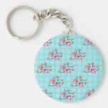 shabby chic, floral decoration keychain